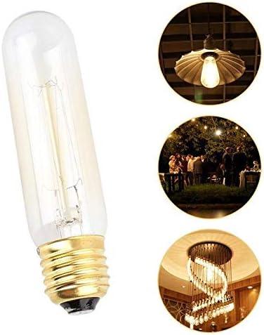 HLIGHT 4PC Multi-Purpose E27 40W Tungsten Filament Bulb Lamps T10 AC220-240V Droplight