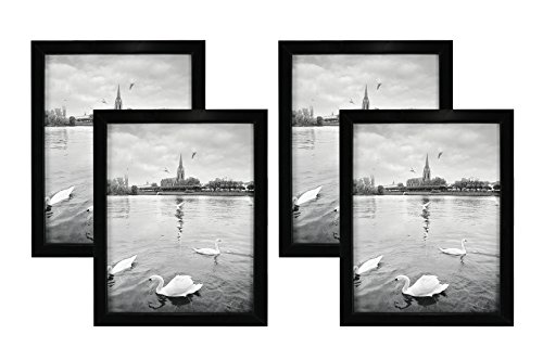 Golden State Art Set of 4, 8x10 Wood Picture Frame, Simple S