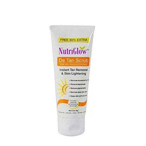 Nutriglow De-Tan Facial Scrub, (65 gm, Tube)