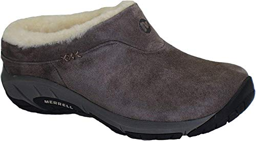 Slip Clogs Athletic (Merrell Womens Encore Ice Slip-On Clog, Stone, 7.5 B(M) US)