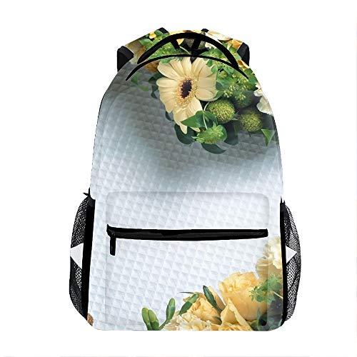 Flowers Hearts Backpack For School Shoulder Daypack Handbag