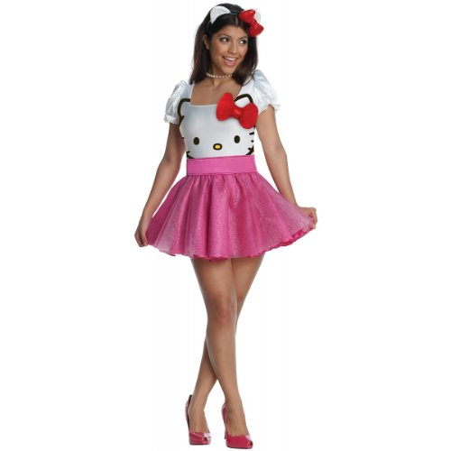 Secret Wishes Womens Hello Kitty Costume, Pink, -
