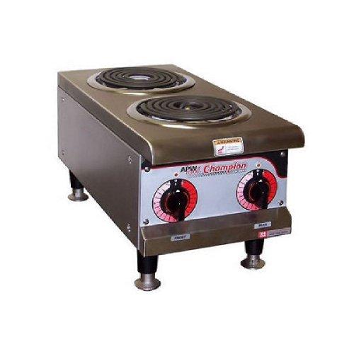 APW Wyott EHPI 208V Electric Countertop Dual Burner Hot Plate