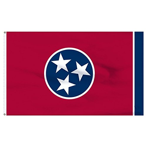 3x5 State of Tennessee Flag 3'x5' house Banner Super Polyester Grommets Premium PREMIUM Vivid Color and UV Fade BEST Garden Outdor Resistant Canvas Header and polyester material FLAG