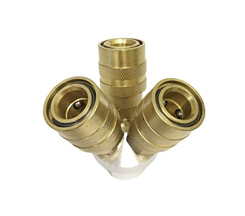 Aluminum 3 Way (3-Way Aluminum Air Manifold with Solid Brass Connectors)