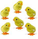 Wind-Up Novelty Jumping Chicken - Party Favor Gag Toy - Easter Egg Baby Bird Yellow Chick Decoration - Pack Of 6
