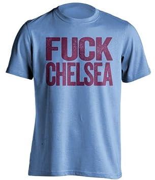 Fuck - Ventilador de West Ham United camiseta de fútbol Chelsea - diseño de texto - carne de vacuno camisas: Amazon.es: Deportes y aire libre