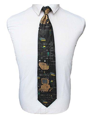 JEMYGINS Mens Computer Tie Novelty Silk Necktie (Novelty Mens Tie)