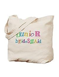 CafePress - Junior Bridesmaid - Natural Canvas Tote Bag, Cloth Shopping Bag