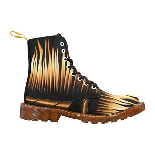 D-story Chaussures Flammes Lacent Bottes De Martin Pour Les Hommes