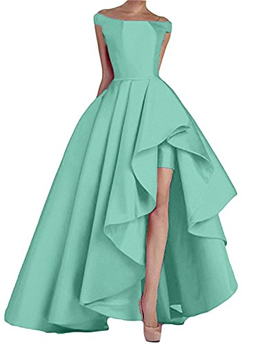 Formal Long Shoulder High The Mint Evening Homdor Satin Gowns Low Off Prom Dresses Wvw1W6q0Z