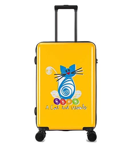 ユニバーサルホイールトロリーケースラゲッジスモールフレッシュ24インチスーツケース (Color : Yellow)   B07MQQVFWG