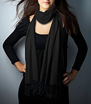 add01dfff Scarves, Cashmere Scarf, Pashmina scarf (3 Ply Pure Pashmina Scarves) By Cashmere  Pashmina Group (BLACK)