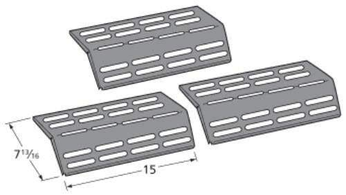 New BBQ Tools 3 Pack Aftermarket Gas Grand Hall Grill Heat Shield/Burner Cover Part 90161