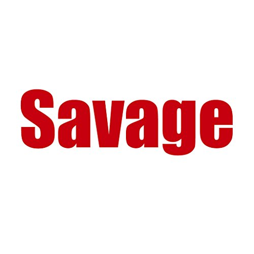 Hashtag Savage #Savage Bold Text - Vinyl Decal for Outdoor Use on Cars, ATV, Boats, Windows and More - Red 4 - Sticker Savage