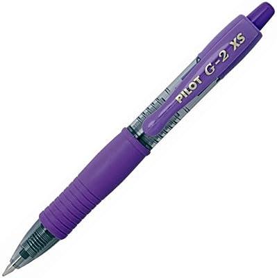 Pilot G-2 Pixie - Bolígrafo, Caja de 12 unidades, color Violeta/Morado: Amazon.es: Oficina y papelería
