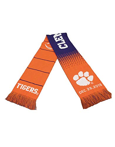 Official 2019 College Football Playoff Fiesta Bowl Clemson Knitted Scarf