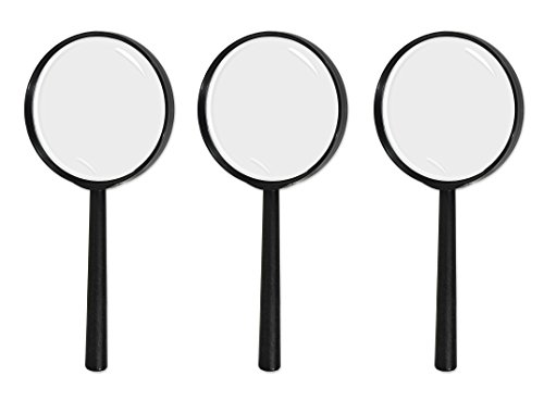 Beistle 52153 3 Piece Magnifying Glasses, 9