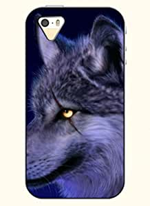 OOFIT Phone Case Design with Wolf for Apple iPhone 5 5s 5g