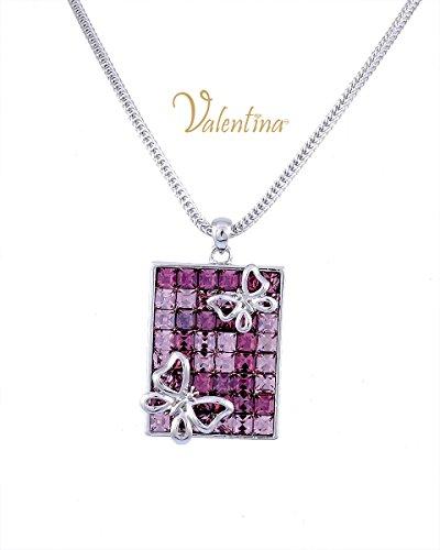 Valentina Rectangle Farfalla Butterfly Necklace
