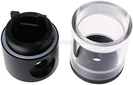 50mm Diameter G1//4 Cylinder Reservoir 9//19//40cm For Computer Water Cooling D23 ping JohnnyBui
