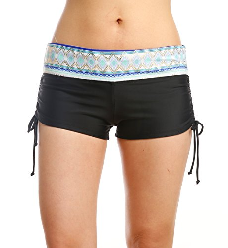 Bathing Suits for Women - Printed Waist Swimwear with Side Adjustable Ties
