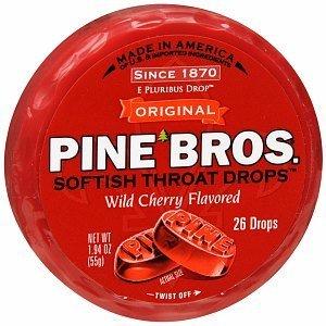 Price comparison product image Pine Bros. Softish Throat Drops,  Wild Cherry,  26 Ea