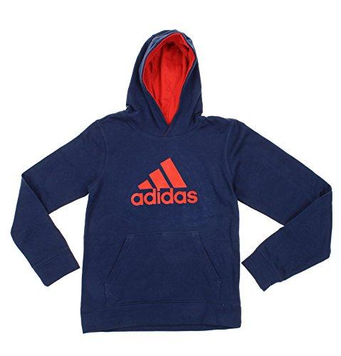 Adidas Big Boys Youth Game Ready Pullover Fleece Hoodie, Navy Red Adidas Big Game Fleece