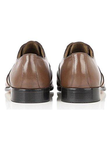 Rombah Wallace - Zapatos de cordones de Piel para hombre Negro negro