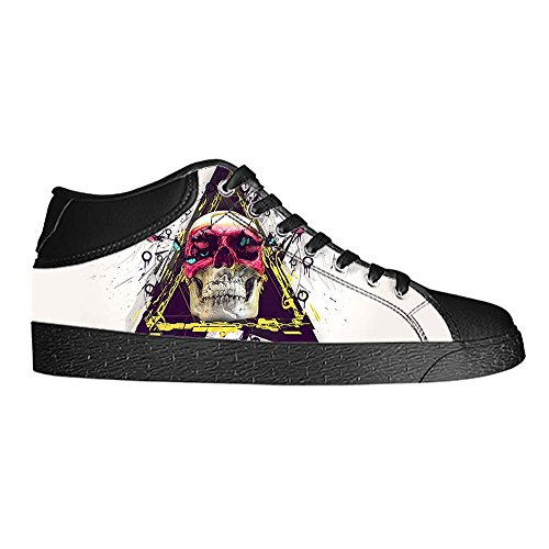 Dalliy Red Rose And Skull Mens Canvas shoes Schuhe Lace-up High-top Sneakers Segeltuchschuhe Leinwand-Schuh-Turnschuhe E