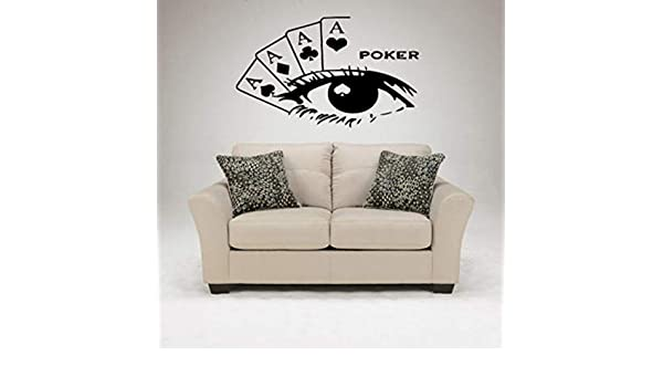 Ajcwhml Casino Sticker Gambling Poker Decal Gamble Named Posters ...