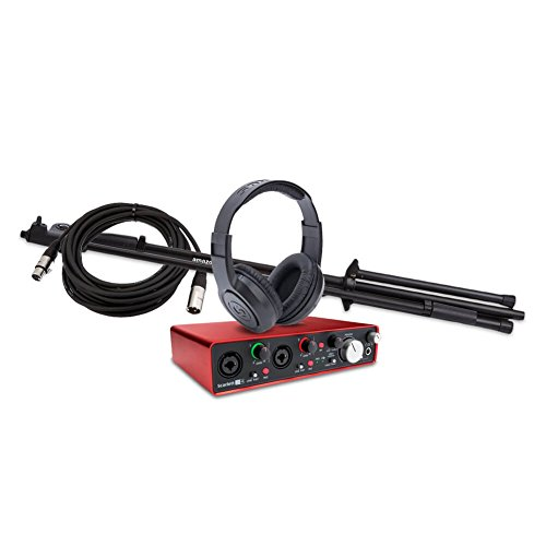 Price comparison product image Focusrite Scarlett 2i4 (2nd Gen) USB Audio Interface bundle with MXL 550 / 551R Condenser Microphone Kit