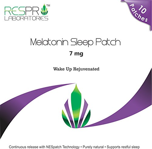 Respro Labs Natural Melatonin Patch Sleep Aid, 7 mg Continuous Release - 10 Patches