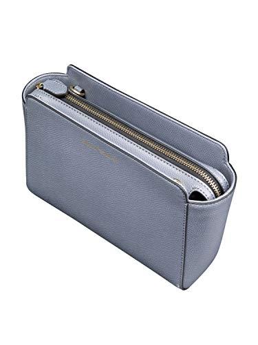 Noir Logo Emporio Armani Grey Femme Handbag Grain Leather 5XqwqOR