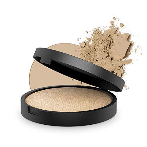 INIKA Baked Mineral Foundation Powder All Natural Make-up Base, Vegan, Hypoallergenic, Dermatologist Tested, 8g ()