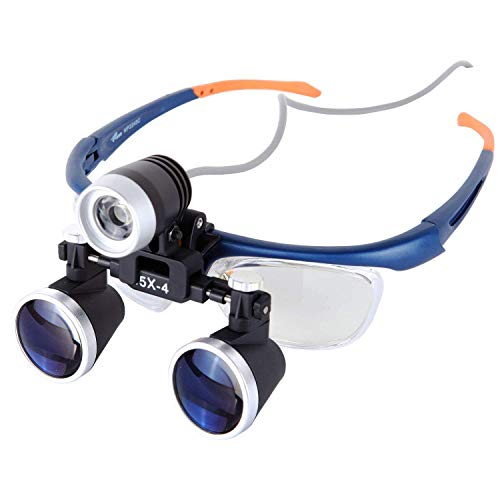 Medical Loupe Surgical Binocular Magnifier w/ 3W High Brightness LED Dental Headlamp Working Distance 420mm (3.5x ()