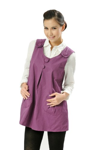 Anti-Radiation Maternity Clothes Top Baby Mom Protection Shield Dresses 8903188 Purple