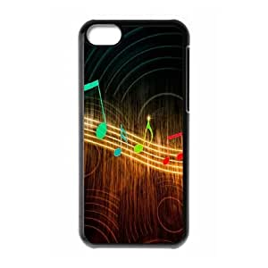 Musical Note iPhone 5c Cell Phone Case Black Wahmo