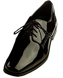 Frederico Leone Men's Chicago Tuxedo Shoe, 10.5 E(W) US, Black
