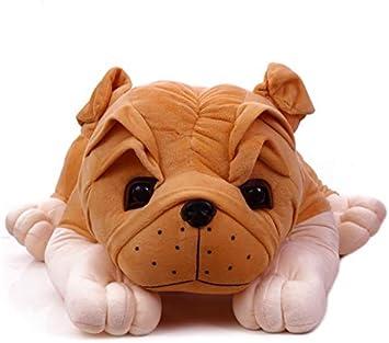 Babyjoys Stuffed Spongy Huggable Cute Lying Big Size Bull Dog Soft Toy (75 cm)