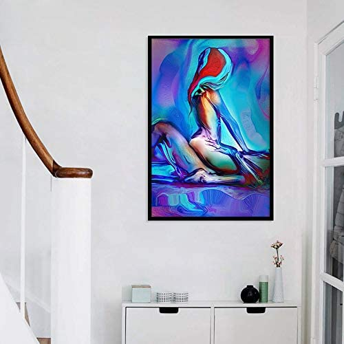 Pas de Cadre HGlSG DIY Peinture en Chiffres Le Sexe /élev/é est Le Toile de Peinture par Numero avec Pinceau et Peinture Acrylique Peinture /à lhuile Kits de Toile Peintur40x60cm