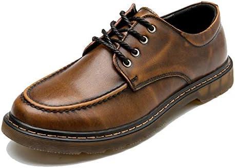 カジュアルレトロブラシカラーラウンドヘッド厚底作業服の靴メンズファッションオックスフォード 快適な男性のために設計