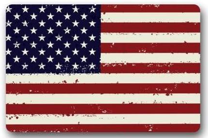 Bandera Americana bandera de EE. UU. Bandera de Estados Unidos felpudos cubierta antideslizante lavable a máquina interior y exterior para cuarto de baño decoración de la cocina alfombra Felpudo de bienvenida: Amazon.es: