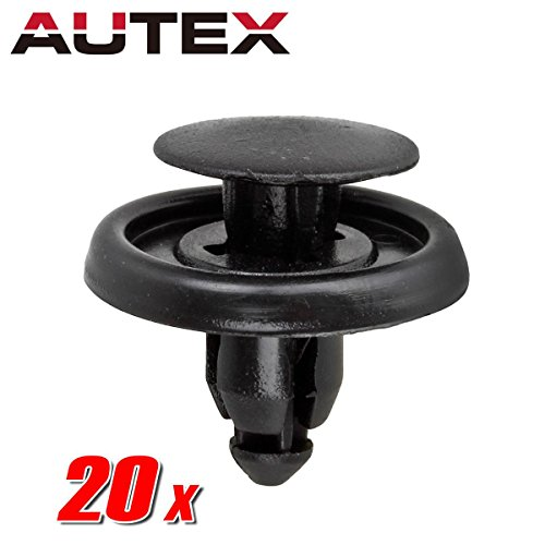 AUTEX 20pcs Fender Liner Fastener Rivet Push Clips Retainer Nut for Scion xA xD Toyota Avalon Camry Corolla Echo Land Cruiser Matrix MR2 Spyder Paseo Prius Sequoia Tercel Yaris Venza Tundra (Toyota Echo Front Bumper)