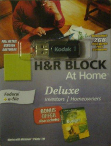 H&R Block At Home 2009 Deluxe in 2GB Kodak USB Drive