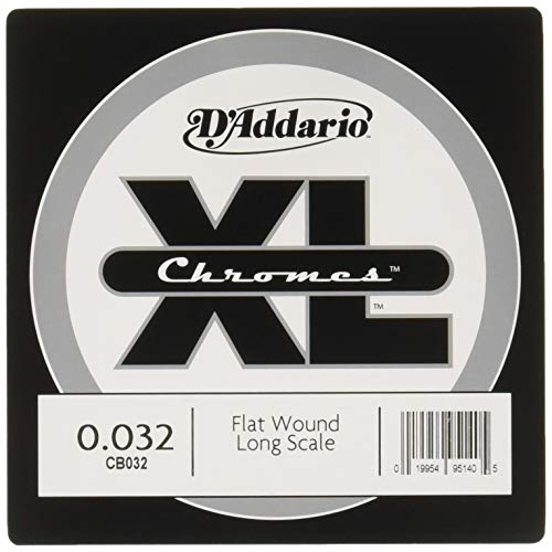 Flatwound Single - D'Addario CB032 Chromes Bass Guitar Single String, .032