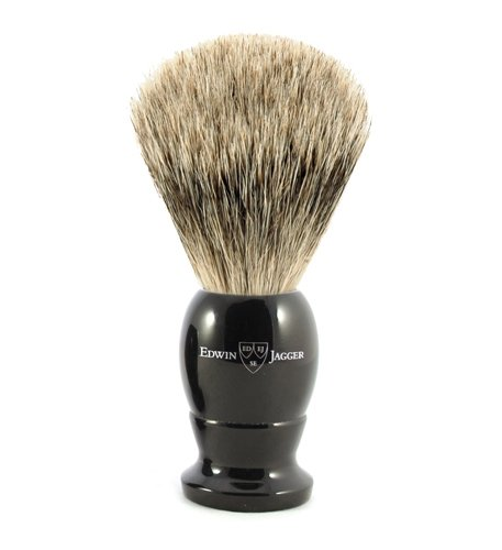 Edwin Jagger Medium Best Badger English Shaving Brush (One Size, Imitation Ebony)