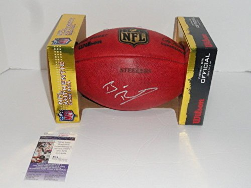 Ben Roethlisberger Autographed Signed Steelers Duke Official Game Football Ball JSA (Autographed Nfl Duke Game Football)