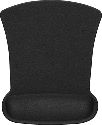 MROCO Ergonomic Mouse Pad with Memory Foam Wrist Rest Comfortable Mouse Pad with Wrist Support, Pain Relief Mousepad with Non-Slip Rubber Base Mouse Mat for Home, Office & Travel, 9.8x7.8in, Black