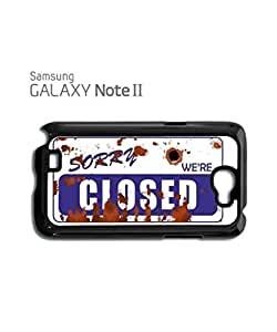 Sorry We're Closed Vintage Mobile Cell Phone Case Samsung Note 2 White